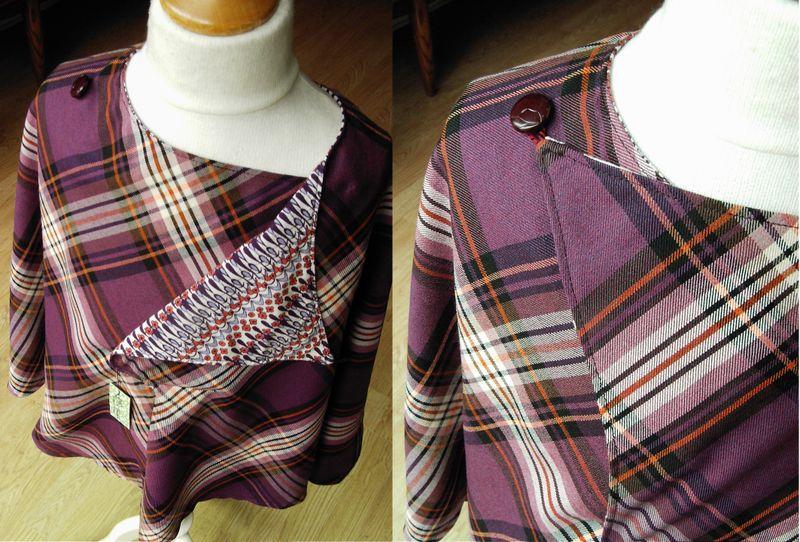 Poncho 6-9 violet