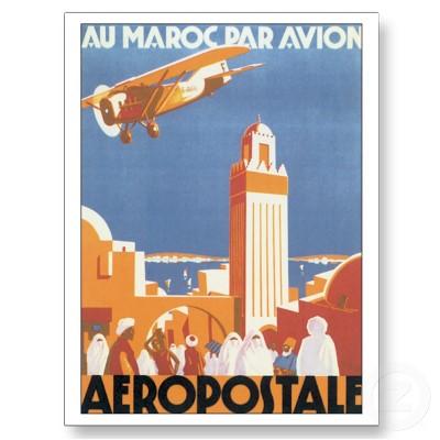 Art_vintage_daffiche_de_voyage_davion_du_maroc_carte_postale-p239987552933303713baanr_400