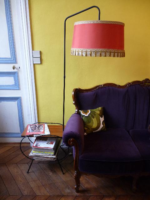 lampe/table vintage, coussin Home à Versailles